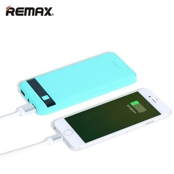 REMAX 12000mAh Power Bank Dual USB LED LCD  bateria externa Powerbank External Mobile Battery Charger Backup Pack For iPhone 6s