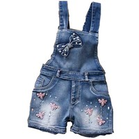2016 year Spring Autu kids overall jeans clothes newborn baby denim overalls jumpsuits for toddler infant girls bib pants F143