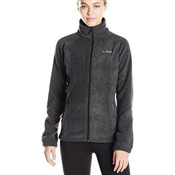 Columbia Women's Benton Springs Full Zip Fleece Jacket, Charcoal Heather, Large