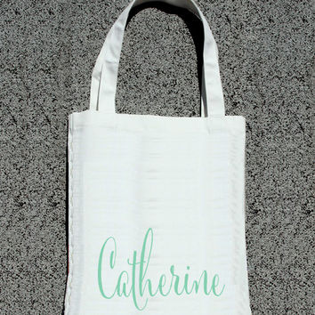 Personalized Bridesmaid & Maid of Honor Tote- Wedding Welcome Tote Bag
