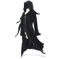 Enchantress Hooded Maxi Jacket - New Age, Spiritual Gifts, Yoga, Wicca, Gothic, Reiki, Celtic, Crystal, Tarot at Pyramid Collection