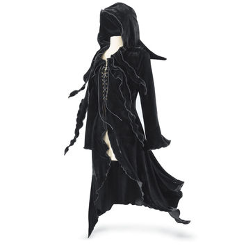 Enchantress Hooded Maxi Jacket - Women's Clothing & Symbolic Jewelry – Sexy, Fantasy, Romantic Fashions