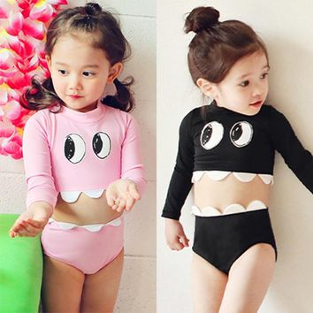 Swimsuit for Children Long Sleeve Swimwear Sunscreen Uv Prodection Beach Sporting Suit Surf Diving Clothing Miraculous Ladybug