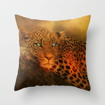 Waiting For The Night Throw Pillow by Theresa Campbell D'August Art