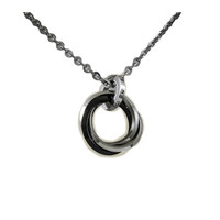 Black and White Stainless Steel Necklaces