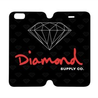DIAMOND SUPPLY Wallet Case for iPhone 4/4S 5/5S/SE 5C 6/6S Plus Samsung Galaxy S4 S5 S6 Edge Note 3 4 5