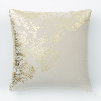 Velvet Metallic Sandstone Pillow Cover - Stone
