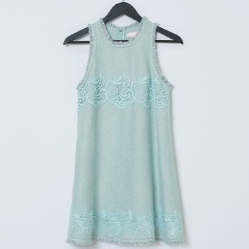 Pretty Bird's Shift Dress -  Mint Green