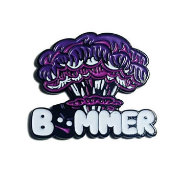 Bommer Hat Pins bomb, LE 50 - Purple Bommer pin, Heady hat pins