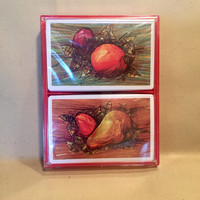 Brown and Bigelow Vintage Fruit Deck of Cards/Fruity Playing Cards/Brand New and Sealed Vintage Deck of Cards