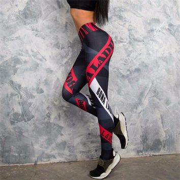 Elastic Waist Stretched Sports Pants Gym Clothes Spandex Running Tights Women Sports Leggings Fitness Yoga Pants
