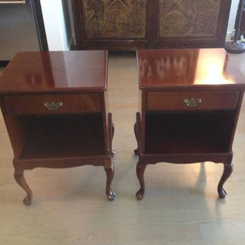 Vintage French Provincial Nightstands/ Side Tables