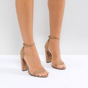 ASOS HIGHBALL Barely There Heeled Sandals at asos.com