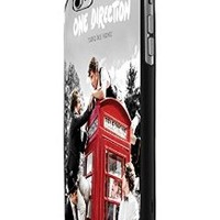 One Direction Red Phone Booth Custom Case for Iphone 5/5s Iphone 6/6 Plus Black and White (iPhone 6 Plus Black Plastic)