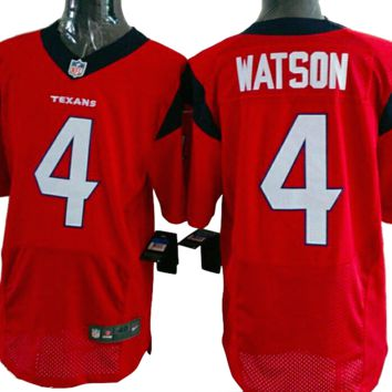 KUYOU Houston Texans Jersey  - Deshaun Watson Red Elite Jersey - Men's