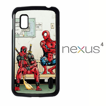 Funny Spiderman and Deadpool LG Nexus 4 Case