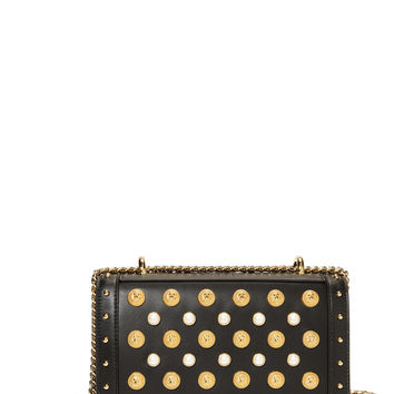 Coin And Pearl Encrusted Shoulder Bag