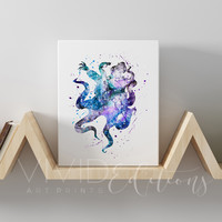 Ursula, The Little Mermaid Gallery Wrapped Canvas