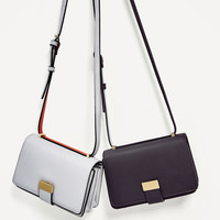 TWO-TONE CROSSBODY BAG DETAILS