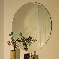 30-Inch Circular Round Mirror for Bedroom Living Room Bathroom Vanity