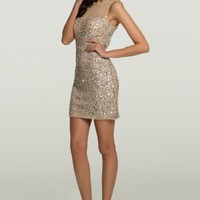 Sequin Illusion Short Dress from Camille La Vie and Group USA