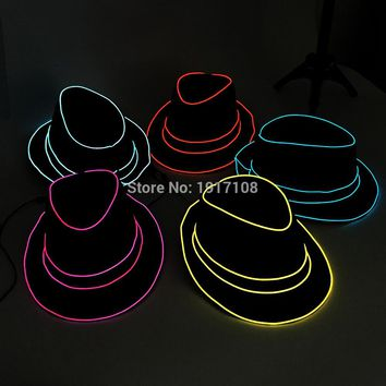 LED Colored Mask Costume Party Festival Hat