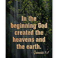 Religious Bible Verse Genesis 1:1 Bible Quote Direct-To-Case UV Printed (Not A Sticker) iPhone 4 Quality Hard Snap On Case for iPhone 4 4S 4G - AT&T Sprint Verizon - Black Frame