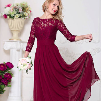 Burgundy bridesmaid dress Marsala bridesmaid dress Wine bridesmaid dress Burgundy lace dress Marsala dress Burgundy dress Wine dress