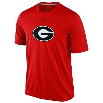Nike Georgia Bulldogs Logo Legend Dri-FIT Performance T-Shirt - Red