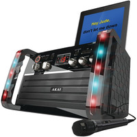 AKAI KS-213 CD+G Karaoke Player with iPad(R)-iPod(R) Cradle & Light Effect