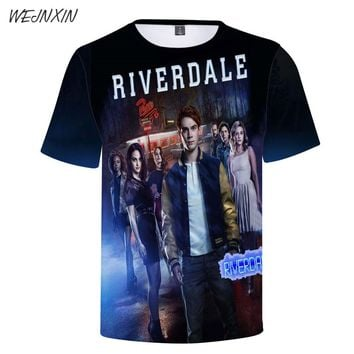 WEJNXIN 2018 Cool Riverdale 3D Print T Shirt Women Men Summer T-shirt Female Harajuku Tshirt Light Weight Brand Clothing On Sale