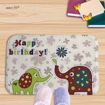 Autumn Fall welcome door mat doormat Big discount Happy birthday cartoon elephant printed home s kitchen bath living room carpets 40x60cm Flannel  AT_76_7