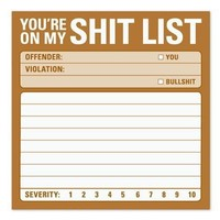 You're On My Shit List - Sticky Notes