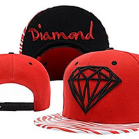 Diamond Snapback Red Zebra Same Style Caps