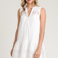 Doe & Rae Summer Shift Dress - White