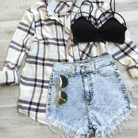 Stella Plaid Top
