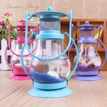 3pcs/lot Gel wax scented candles retro portable lights with sea shell home wedding party decoration candles aromatherapy