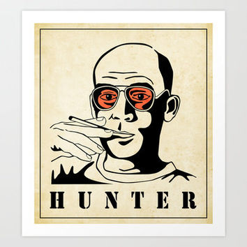 Dr Hunter S Thompson Art Print by Jazzberry Blue