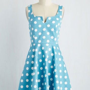 Vintage Inspired Mid-length Sleeveless Fit & Flare Wowing Whimsy Dress