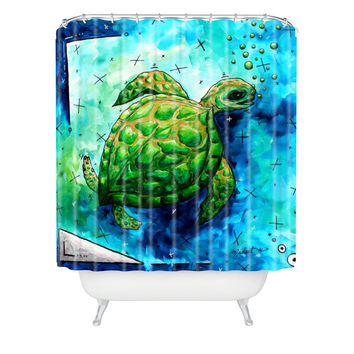 Madart Inc. Sea of Whimsy Sea Turtle Shower Curtain