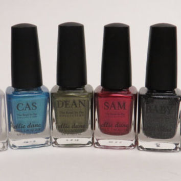 The Road So Far Pt 1 - Supernatural inspired Nail Polish set of 6 - 11ml each (Full Size)