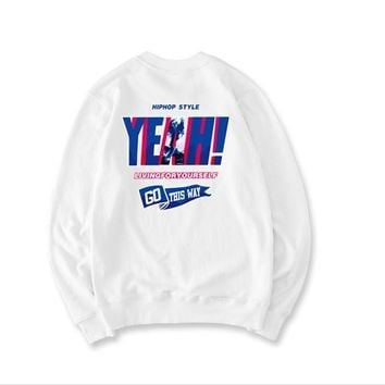 YEAH Wind letter printing sets of sweater
