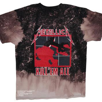 Metallica Kill 'Em All Vintage Distressed Band Tee