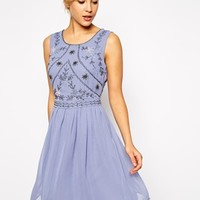 ASOS Embellished Bodice Skater Dress