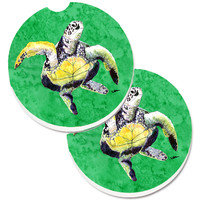 Turtle Set of 2 Cup Holder Car Coasters 8671CARC