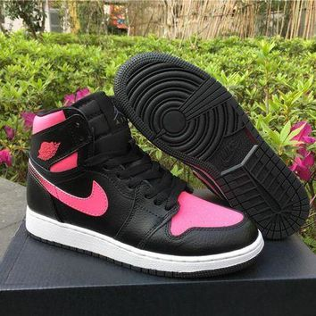 UCANUJ3V Air Jordan 1 GS Vivid Pink AJ1 Women Basketball Sneaker-1