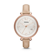 Heather Sand Leather Watch