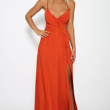 Denise Dress - Burnt Orange