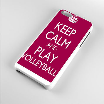 Keep Calm Play On Volleyball Purple iPhone 5c Case