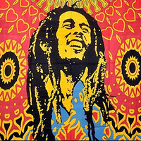 ModTradIndia-Bob Marley Tapestry, Indian Hippie Wall Hanging , Bohemian Bedspread, Mandala Cotton Dorm Decor Beach Blanket